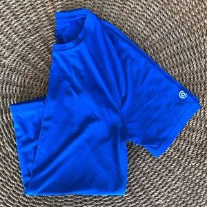 Work out Tee bright blue